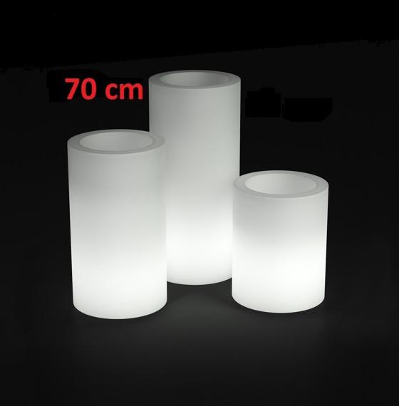 PD Concept 70 cm Donica Świecąca Hebe PL-HE70-LIGHT Biała
