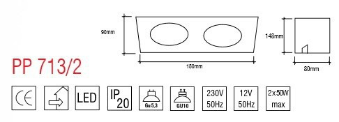 PP Design 713/2 Oprawa Wpuszczana