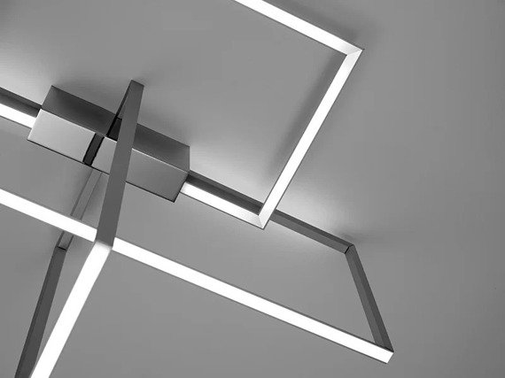 Plafon LED Sforzin Area kolor srebrny