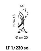 ROMA LT 1/230 bursztynowy/miedziany lewy Lampa Stołowa
