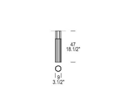 Reed PL 90 Lampa Sufitowa Leucos 9 cm przezroczysta