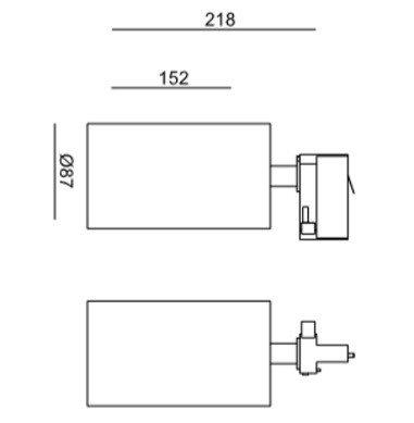 Reflektor do szyny LEDowy Mob Mistic MSTC-05411381 biały kolor