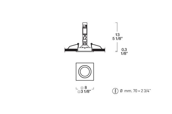 SD 802 Oprawa do zabudowy 7 cm biała Leucos