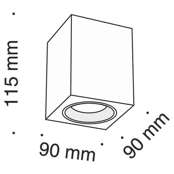 Spot Sufitowy Maytoni Alfa C013CL-01B czarny