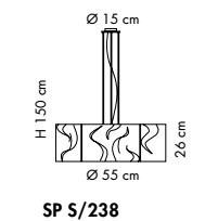 VENEZIA SP S/238 satynowo-czarna Oprawa Wisząca Sillux