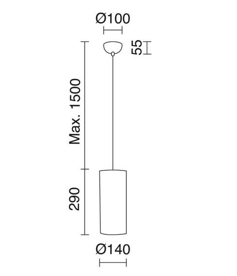 Zwis Selma 840B-G05X1A-55 Novolux Exo
