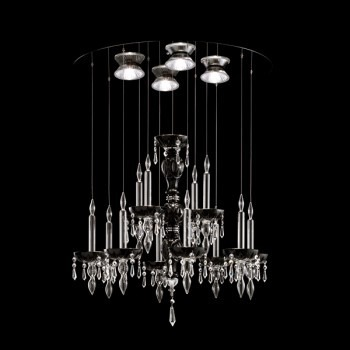 Żyrandol Facon de Venice LIMELIGHT 12.4 crystal/black