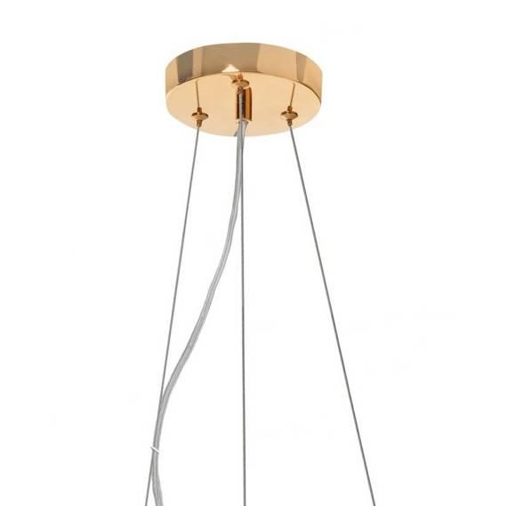 Żyrandol Złoty Szklany Berella Light Mistero 20G BL3434