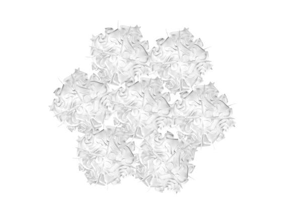 Żyrandol włoski Slamp Veli 7 kolor biały
