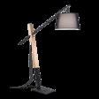 Ideal Lux Eminent PT1 Lampa podłogowa czarna włoska z abażurem na wysięgniku